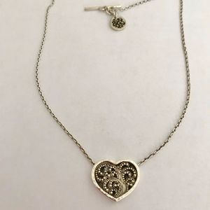 Lois Hill Sterling Silver Heart Necklace